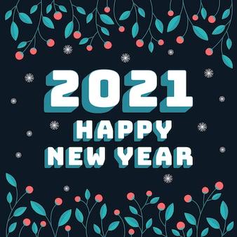 Hand getekend nieuw jaar 2021