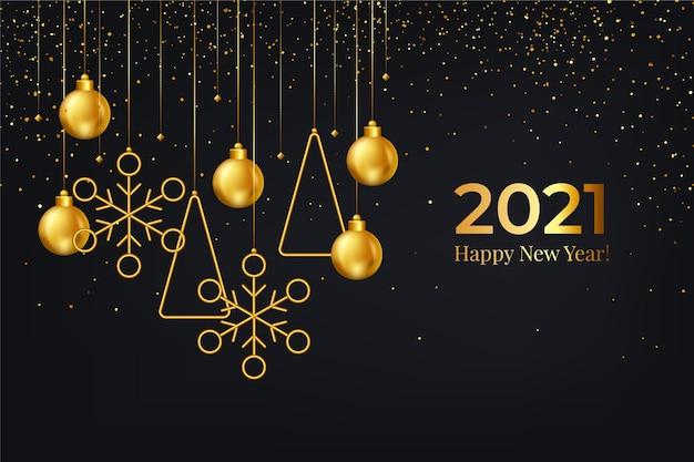 Hand getekend nieuwe jaar 2021 achtergrond
