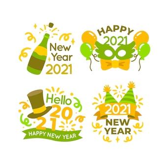 Hand getekend nieuwjaar 2021 party badge-collectie