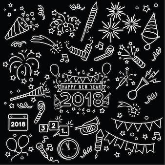 Hand getekend nieuwjaarsviering