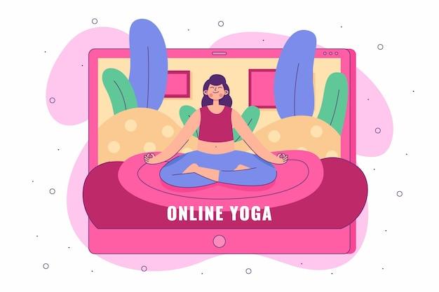 Hand getekend online yogales concept