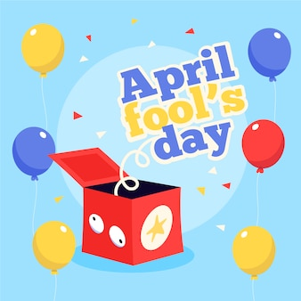 Hand getekend ontwerp april dwazen dag