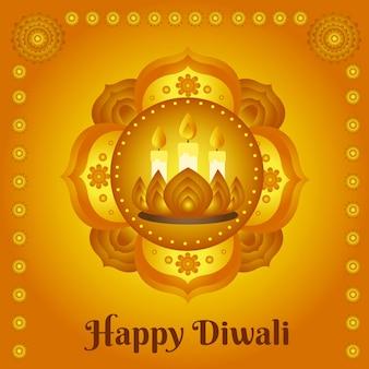 Hand getekend ontwerp diwali-feest