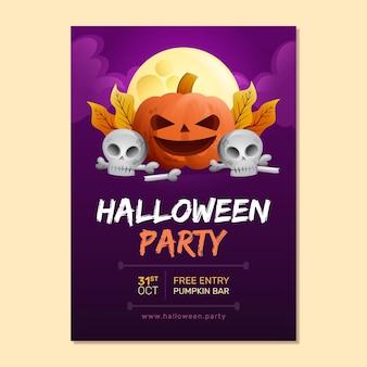 Hand getekend ontwerp halloween party poster