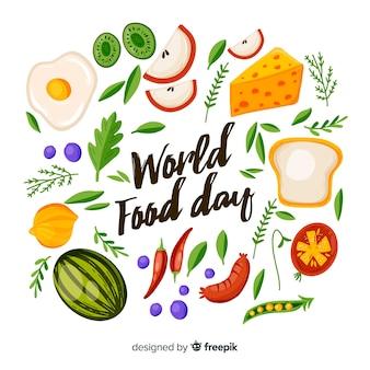 Hand getekend ontwerp met wereld voedsel dag evenement