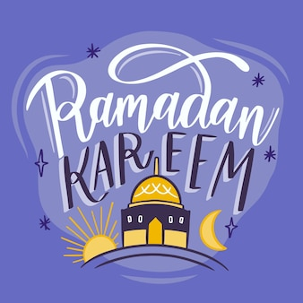 Hand getekend ontwerp ramadan kareem