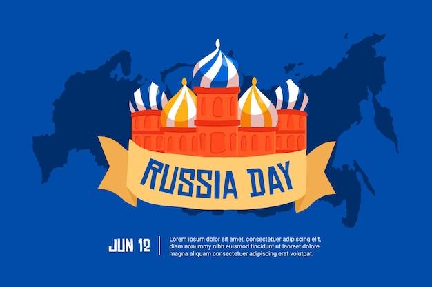 Hand getekend ontwerp rusland dag