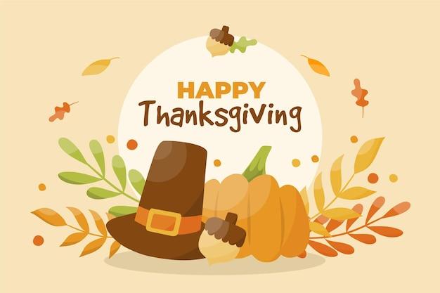 Hand getekend ontwerp thanksgiving achtergrond