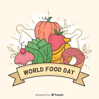 Hand getekend ontwerp wereld voedsel dag
