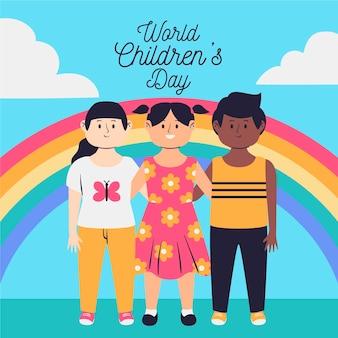 Hand getekend ontwerp wereldkinderen dag