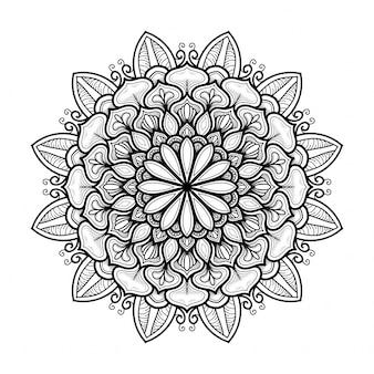 Hand getekend oosterse mandala