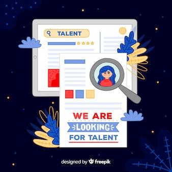 Hand getekend op zoek talent achtergrond