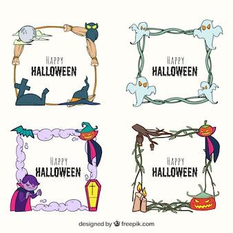 Hand getekend pak halloween-frames