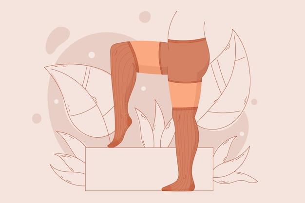 Hand getekend panty panty illustratie