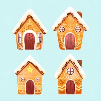 Hand getekend peperkoek huis collectie