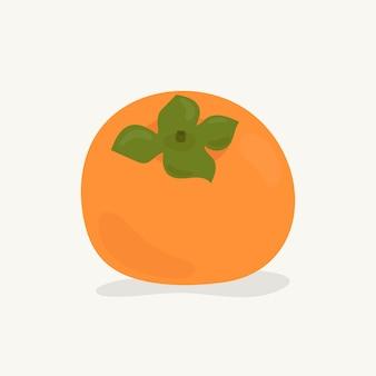 Hand getekend persimmon fruit illustratie
