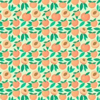 Hand getekend perzik patroon