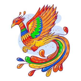 Hand getekend phoenix concept