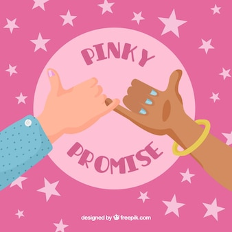 Hand getekend pink beloof concept