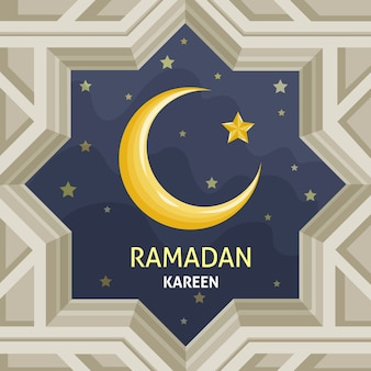 Hand getekend ramadan concept