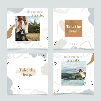 Hand getekend reizen instagram postpakket