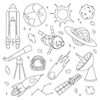 Hand getekend ruimtecollectie