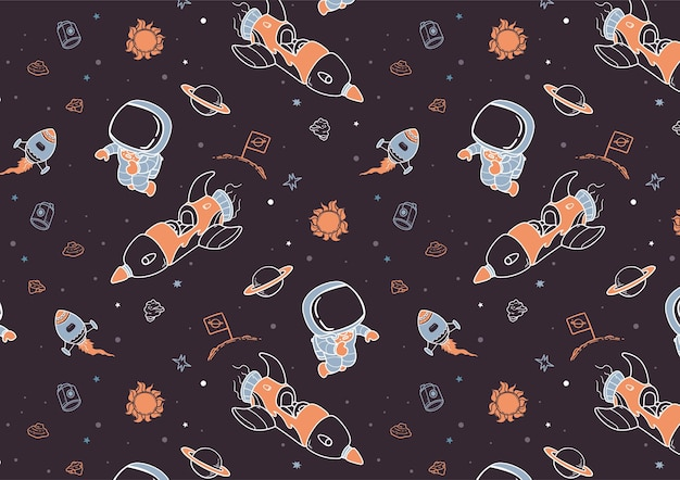 Hand getekend ruimtepatroon