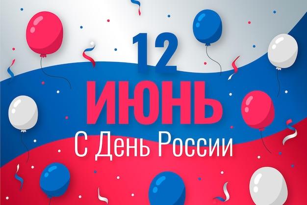 Hand getekend rusland dag achtergrond