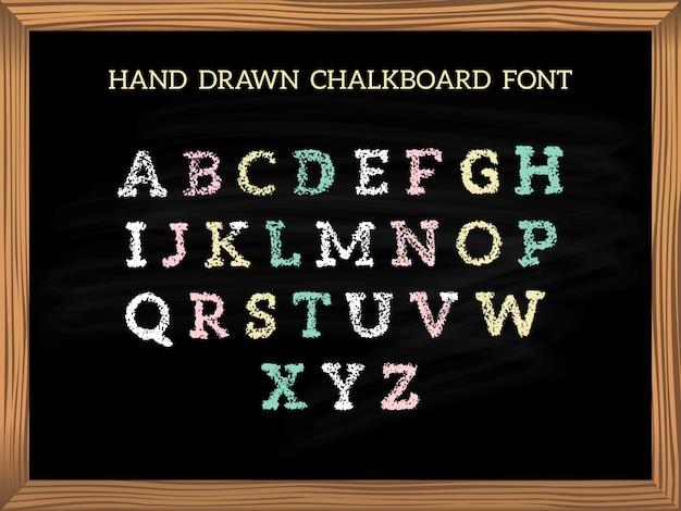 Hand getekend schoolbord lettertype.