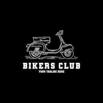 Hand getekend scooter logo ontwerp