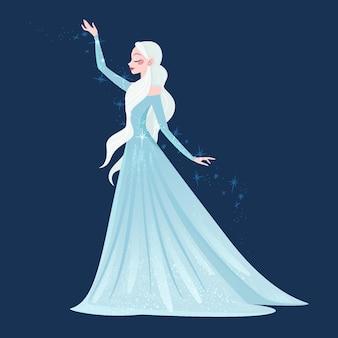 Hand getekend sneeuwmeisje karakter