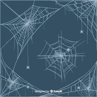 Hand getekend spider spinnenweb collectie
