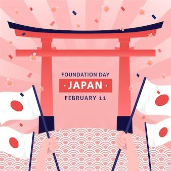 Hand getekend stichtingsdag japan