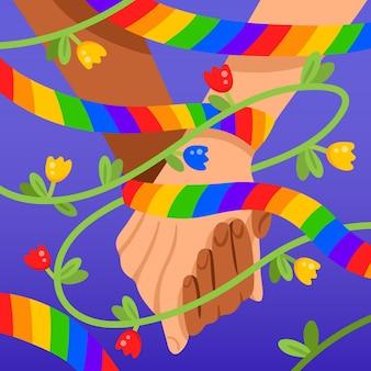 Hand getekend stop homofobie bericht geïllustreerd