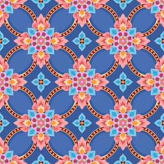 Hand getekend thais patroon