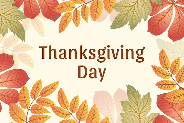 Hand getekend thanksgiving day achtergrond