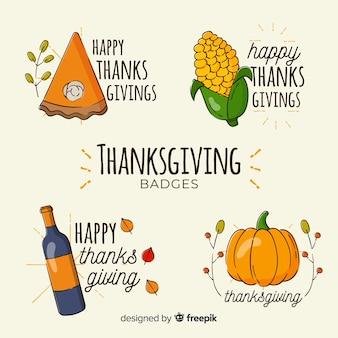 Hand getekend thanksgiving label collectie