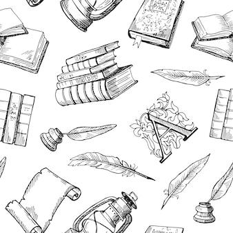 Hand getekend theater elementen patroon of illustratie