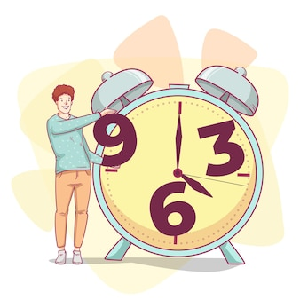 Hand getekend time management illustratie