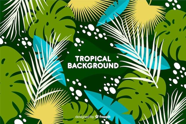 Hand getekend tropische achtergrond