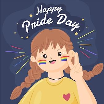 Hand getekend trots dag illustratie