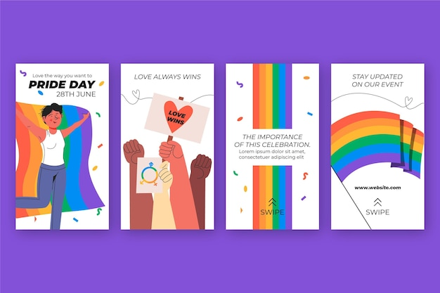 Hand getekend trots dag instagram verhalencollectie