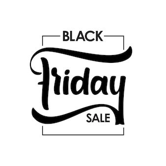 Hand getekend type belettering van black friday sale in frame