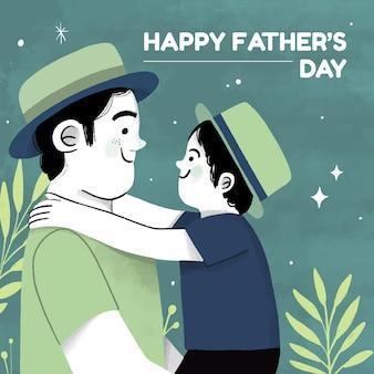 Hand getekend vaderdag illustratie