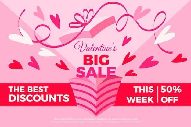 Hand getekend valentijnsdag grote verkoop