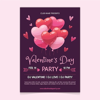 Hand getekend valentijnsdag partij poster