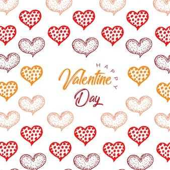 Hand getekend valentine harten achtergronden