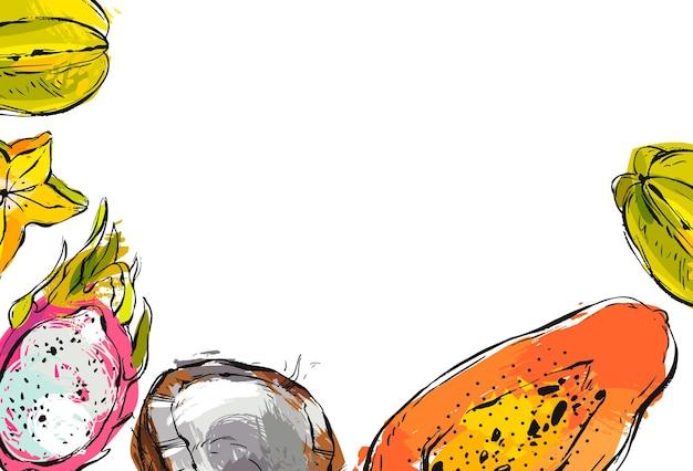 Hand getekend vector abstracte voorraad platte grafische illustratie