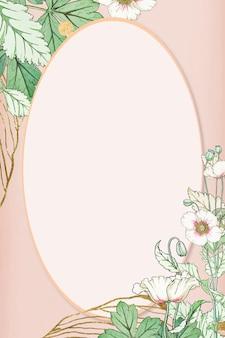 Hand getekend vector bloem frame