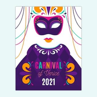 Hand getekend venetiaans carnaval poster